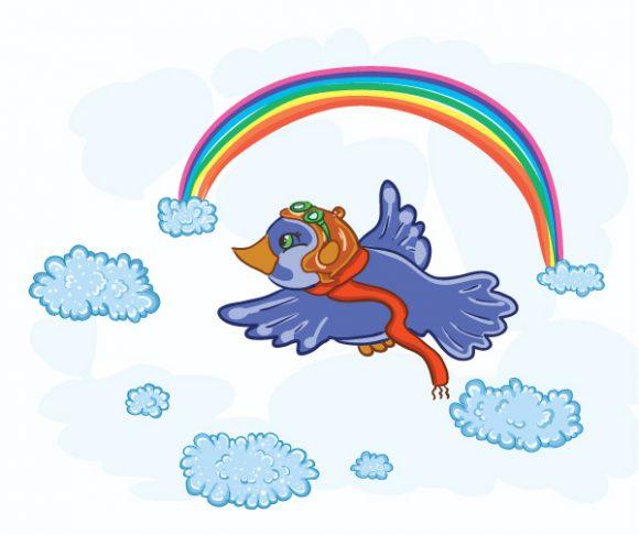 Special Bird Vector Image: Pilot Bird 5