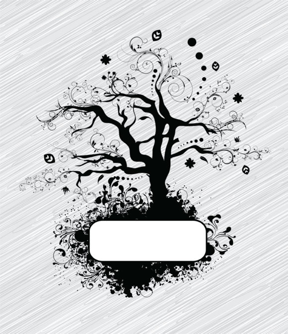 With, Grunge Vector Background Vector Abstract Tree With Grunge 12 01 2010 75