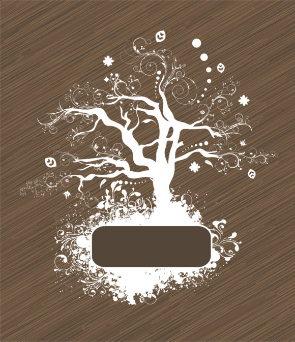 Abstract, Tree Vector Vector Abstract Tree With Grunge 12 01 2010 76