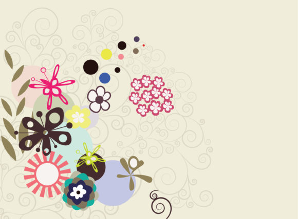 Abstract, With, Floral Vector Artwork Vector Abstract Background With Floral 5