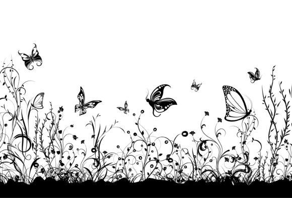 Smashing Butterflies Vector Background: Vector Background Floral Background With Butterflies 1