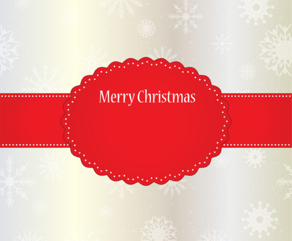 Winter Vector Image: Vector Image Winter Label With Snowflakes 5