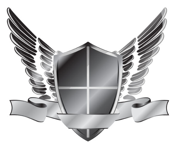 Shield Vector Graphic: Vector Graphic Vintage Emblem With Shield 1