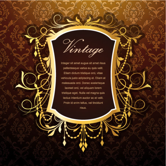 Vintage Floral Frame Vector Illustration 12 05 2011 52