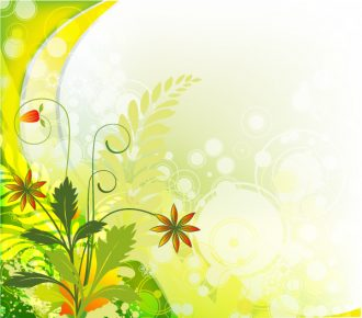 Vector Colorful Floral Background Vector Illustrations wave