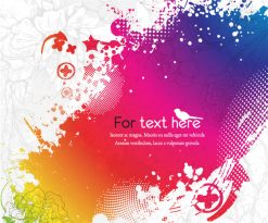 Vector Colorful Abstract Background Vector Illustrations floral