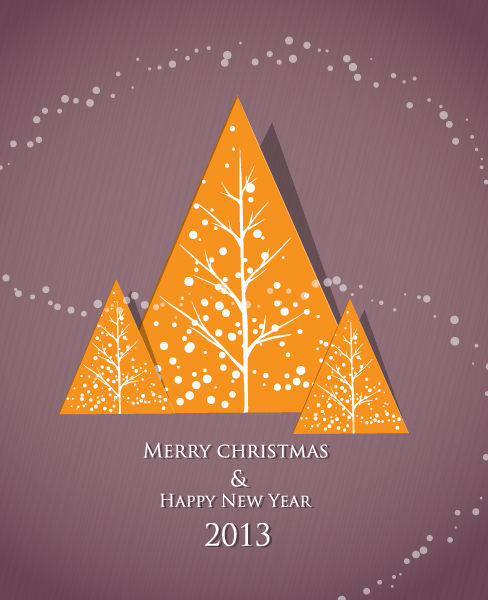Christmas Vector Illustration With Sticker Christmas Tree 12 12 2012 111