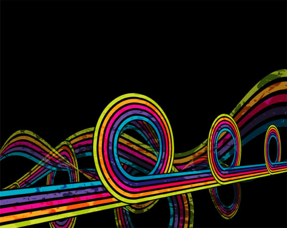 Music, Grunge Vector Art Vector Colorful Grunge Music Background 1