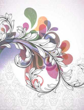 Vector Vintage Floral Background Vector Illustrations old