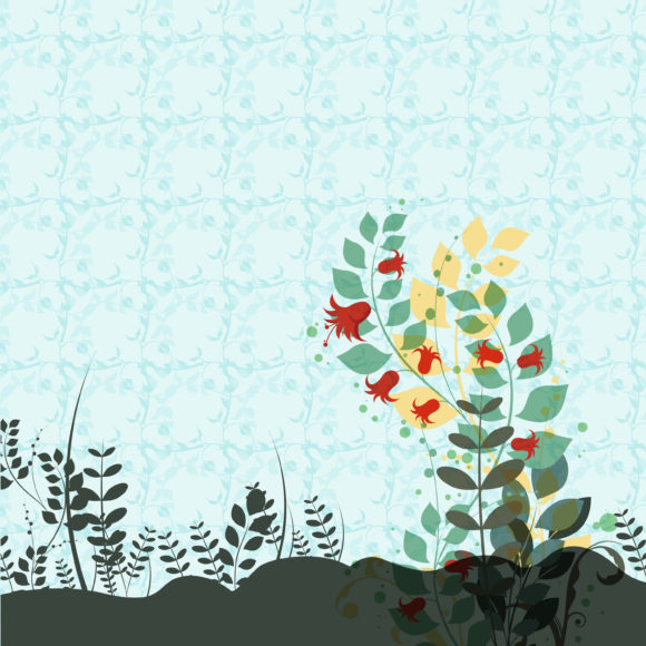 Plant, Background Vector Vector Colorful Floral Background 12 13 2010 51