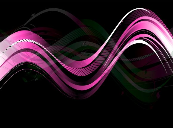 Bold Waves Vector: Vector Abstract Waves Background 12 13 2010 62 scaled