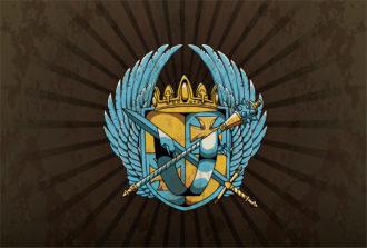 Vector Vintage Emblem With Crest Vector Illustrations old