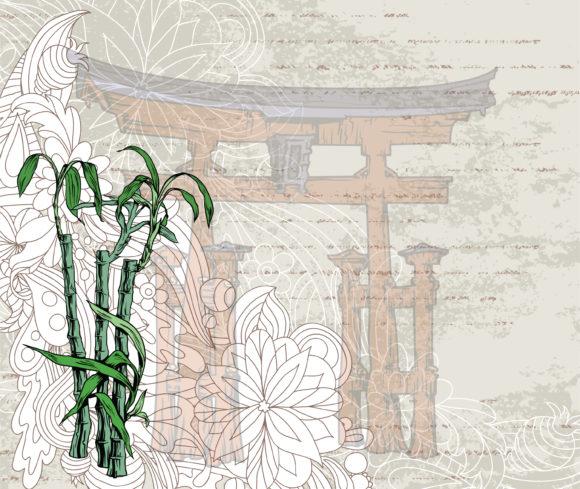 Background Vector Design: Vector Design Japanese Grunge Background 5