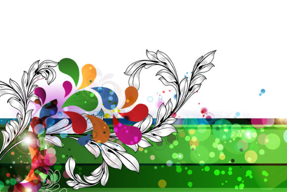 Floral-3, Floral Vector Artwork Vector Abstract Floral Background 12 1 2010 36