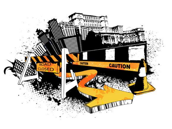 Vector Vector: Grunge Urban Background Vector Illustration 12 22 2010 8