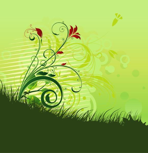 Floral, Vintage, Illustration Vector Background Vintage Floral Background Vector Illustration 5