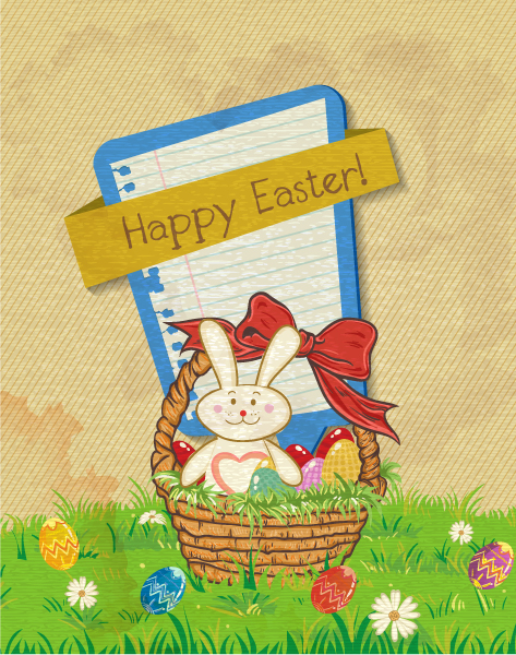 Easter Background Vector Illustration Vector Illustrations old
