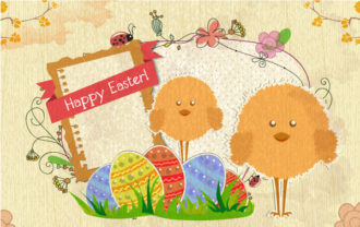 Easter Background Vector Illustration Vector Illustrations old