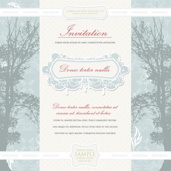 Insane Invitation Vector Image: Vintage Invitation Vector Image Illustration 12 7 2011 12
