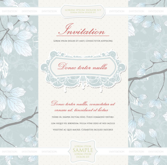 Illustration Vector Image Vintage Invitation Vector Illustration 12 7 2011 13