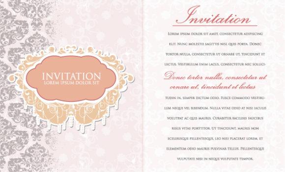 Trendy Vintage Vector Image: Vintage Invitation Vector Image Illustration 5