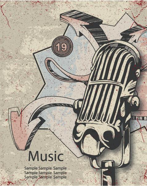 Astounding Vector Vector: Music Poster Vector Illustration 5