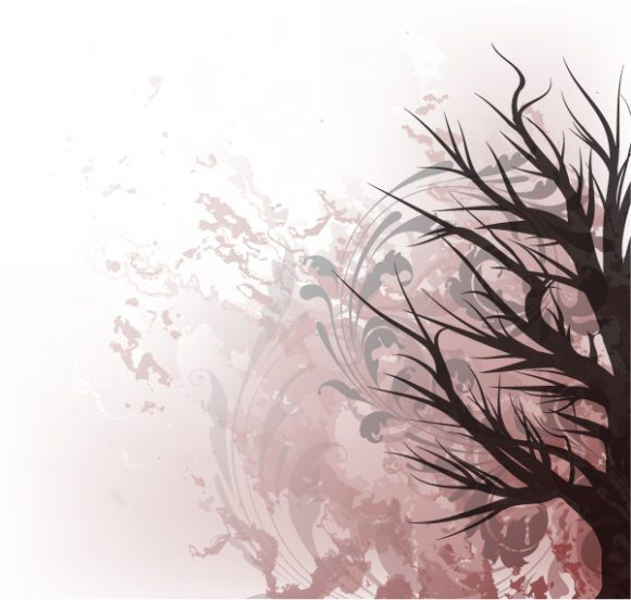 Grunge, Tree, Illustration Vector Graphic Tree On Grunge Background Vector Illustration 12 7 2011 7
