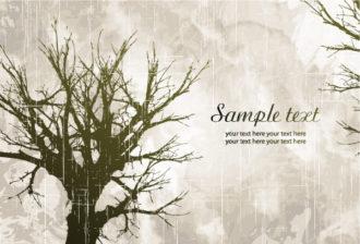 Tree On Grunge Background Vector Illustration Vector Illustrations tree