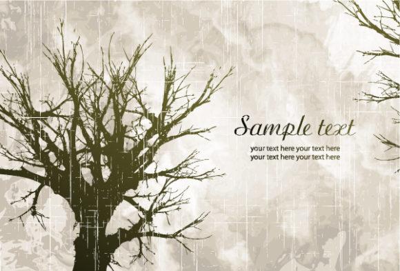 Stunning Tree Vector Art: Tree On Grunge Background Vector Art Illustration 12 7 2011 9