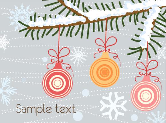 Brilliant Card Vector Art: Vector Art Christmas Greeting Card 12 9 2011 105
