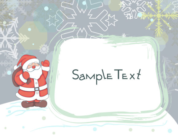 New With Vector: Vector Christmas Background With Santa 5