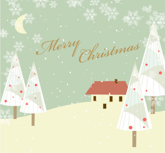 With, Vector Vector Graphic Vector Christmas Background With Trees 5