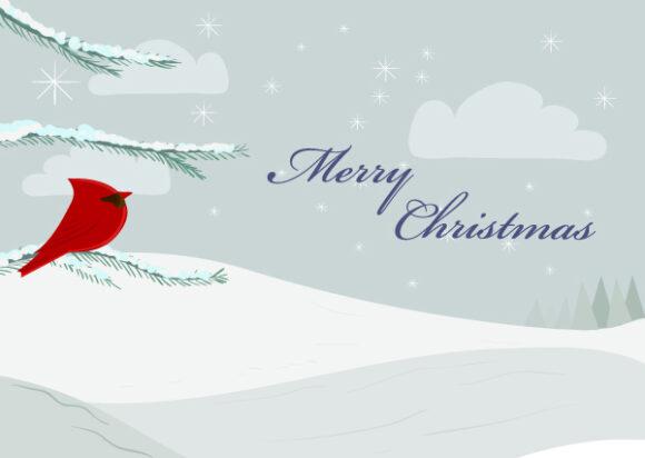 Vector Vector Illustration: Vector Illustration Christmas Greeting Card 5