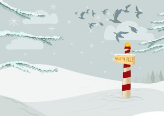 Vector Christmas Background With Birds Vector Illustrations tree