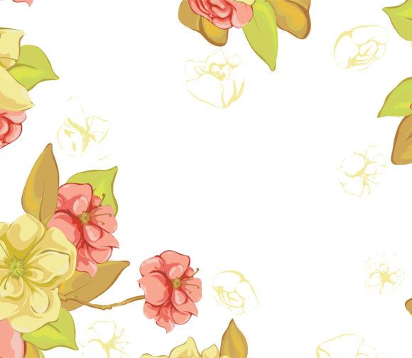 Floral Vector Illustration Vector Spring Colorful Floral Background 13 01 2011 52