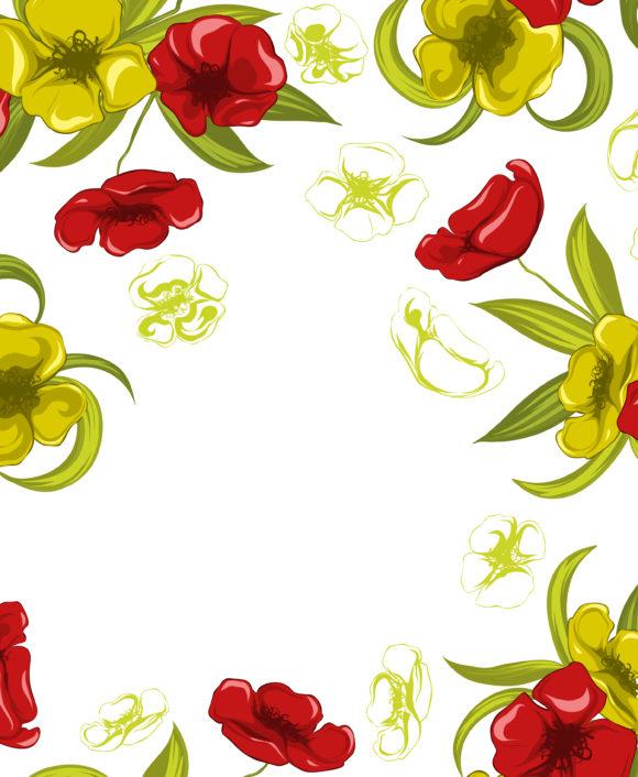Floral, Spring Vector Background Vector Spring Colorful Floral Background 13 01 2011 55