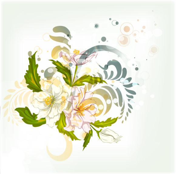 Insane Floral Vector Art: Vector Art Abstract Colorful Floral Background 5