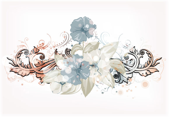 Unique Background Vector Artwork: Vector Artwork Abstract Colorful Floral Background 13 01 2011 58