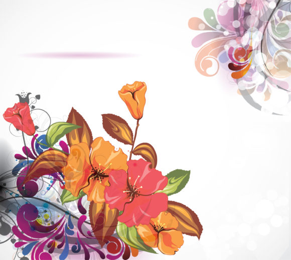 Insane Colorful Vector Art: Vector Art Abstract Colorful Floral Background 13 01 2011 73