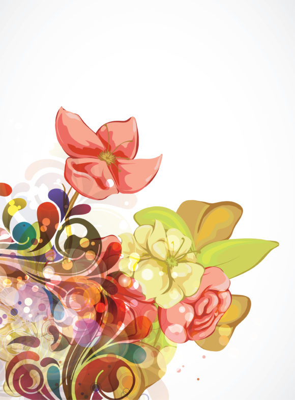 Vector Vector Graphic: Vector Graphic Abstract Colorful Floral Background 13 01 2011 74