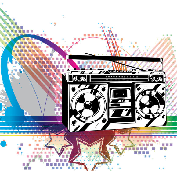 Stunning Colorful Vector Design: Vector Design Colorful Music Background 5