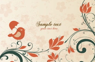 Vector Spring Floral Background Vector Illustrations umbrella