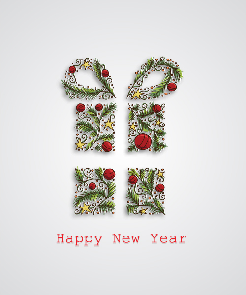 Christmas Vector Illustration With Decorated Gift 13 12 2012 111