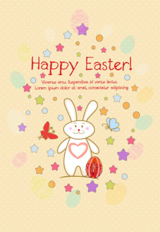 Bunny With Egg Vector Illustration Vector Illustrations star