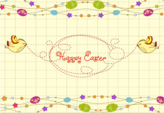 Vector Easter Background With Birds Vector Illustrations star