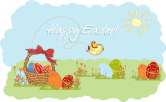 Vector Easter Background With Eggs Vector Illustrations vector