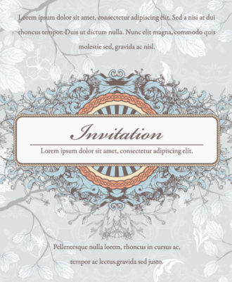 Vintage Invitation Vector Ilustration Vector Illustrations floral