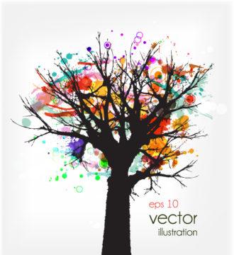 Abstract Tree Vector Ilustration Vector Illustrations tree