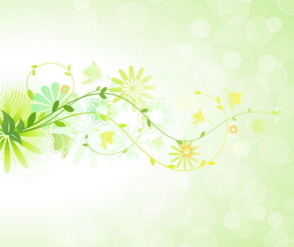 New Vector Vector Image: Vector Image Spring Floral Background 5