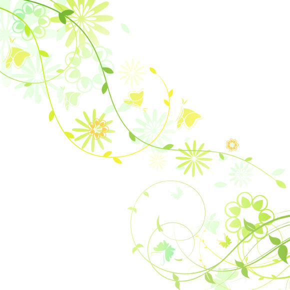 Awesome Spring Vector Artwork: Vector Artwork Spring Floral Background 14 02 2011 53